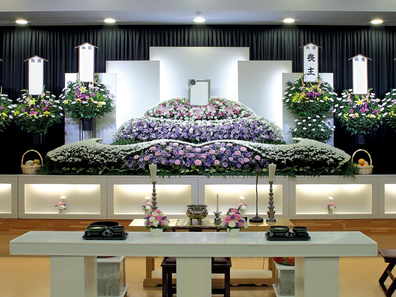 【生花祭壇】一般葬 参列80名 水戸市
