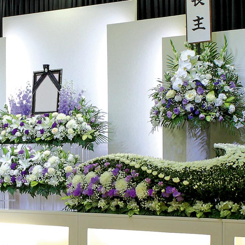 【生花祭壇】一般葬 参列150人 水戸市