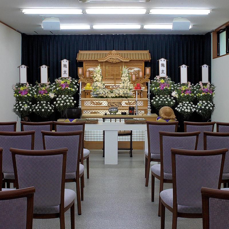 【白木祭壇】家族葬 参列20人 大子町