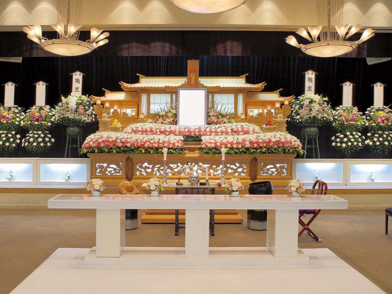 【白木祭壇】一般葬 参列130人 水戸市