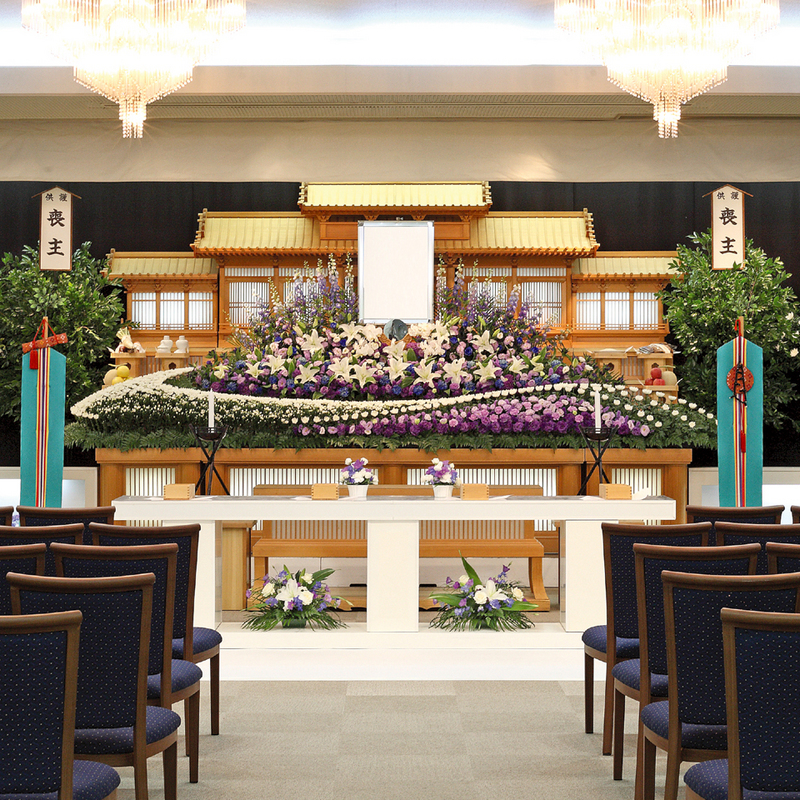 【白木祭壇】一般葬 参列60人 水戸市