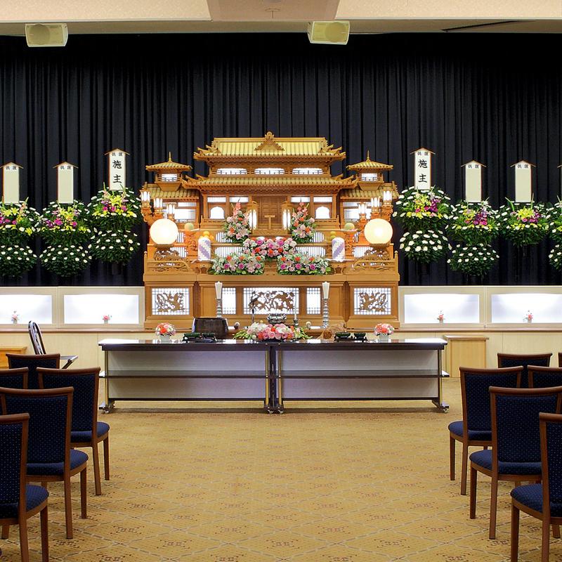 【白木祭壇】一般葬 参列100人 ひたちなか市