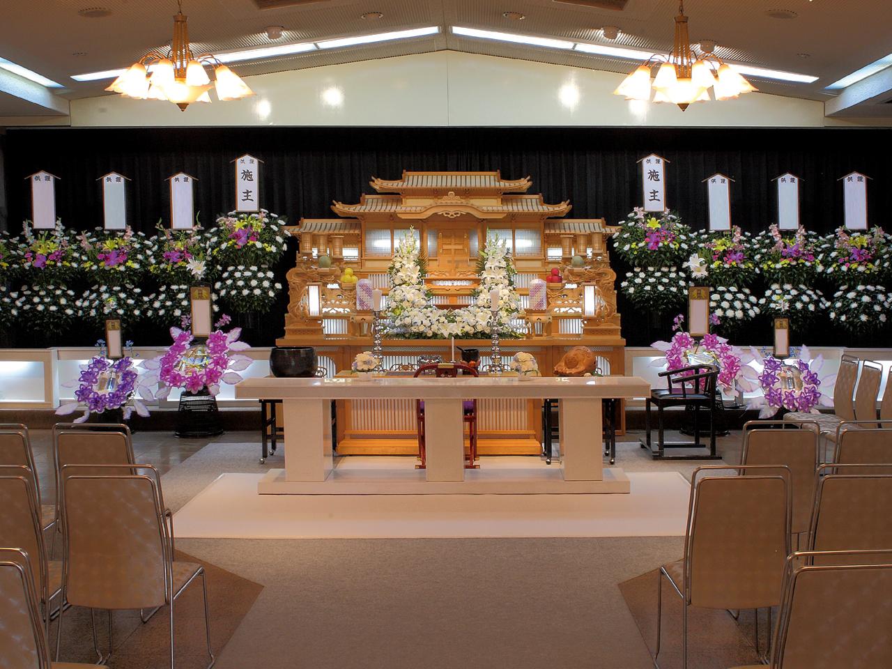 【白木祭壇】一般葬 参列80人 水戸市