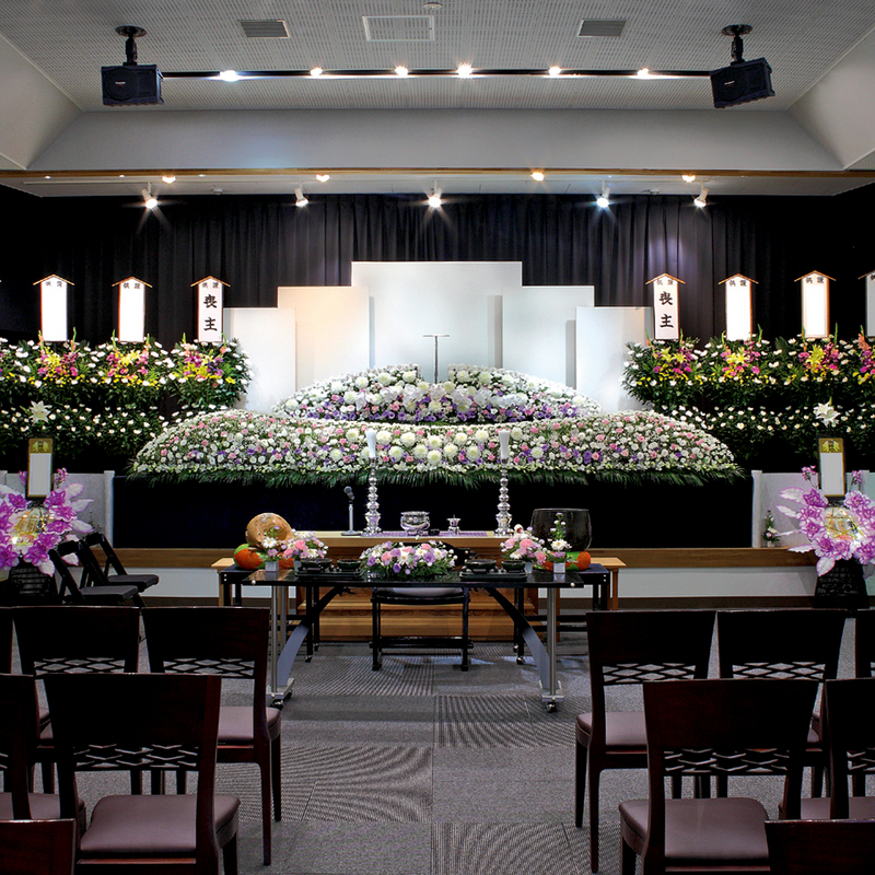 【生花祭壇】一般葬 参列100人 城里町