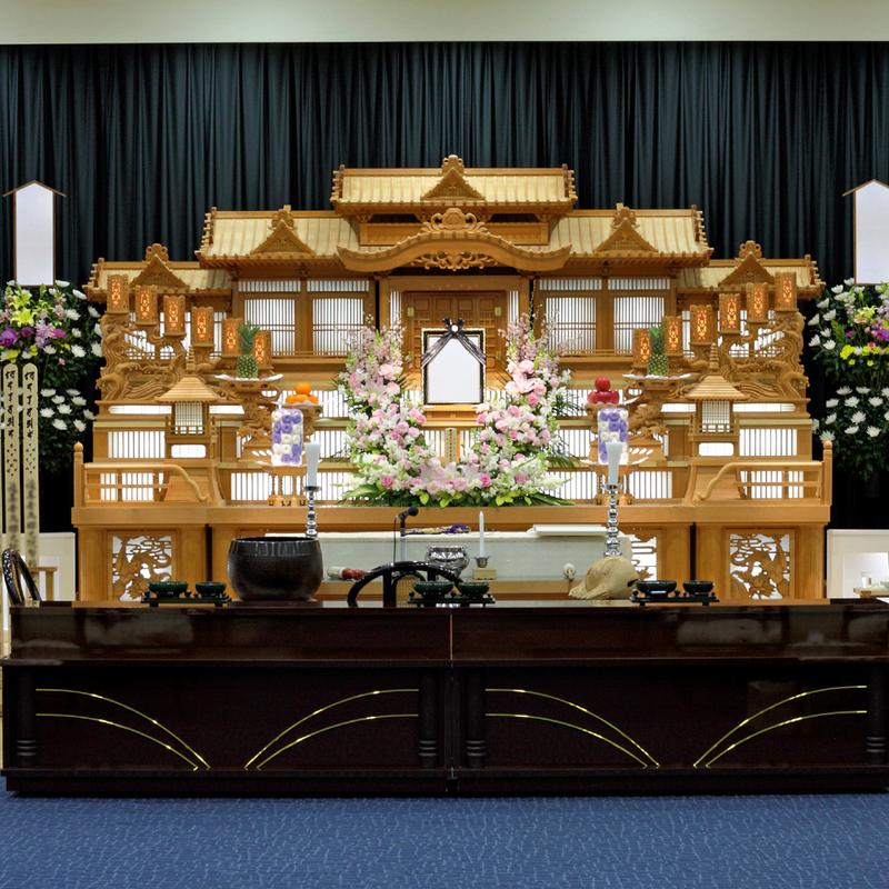 【白木祭壇】一般葬 参列60人 ひたちなか市
