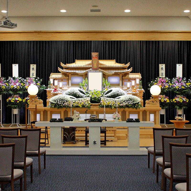 【白木祭壇】一般葬 参列100人 矢祭町